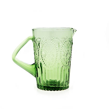 Fleur de Lys Green Pitcher (available to order)
