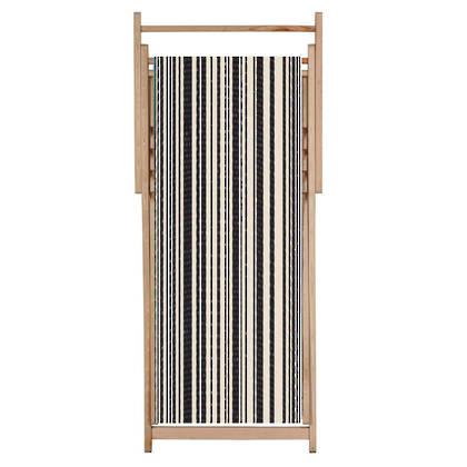 Deckchair Tom Noir Cotton