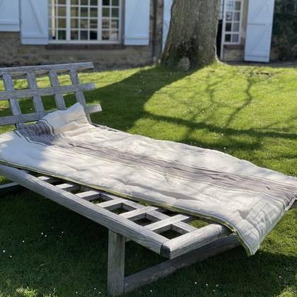 French cotton tufted mattress - design n°10 Grey