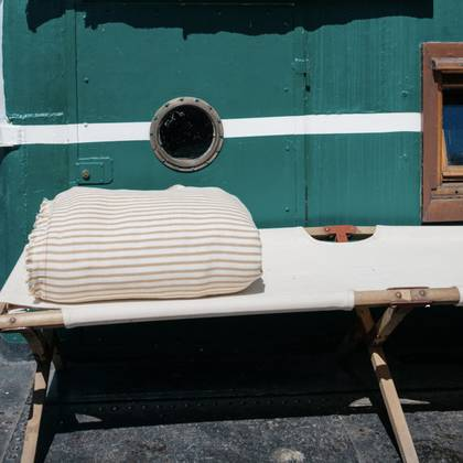 French cotton tufted mattress - design n°7 Tobacco