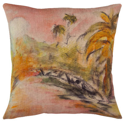 Maison Levy Lune Rose Cushion 55cm (due instore mid Dec)