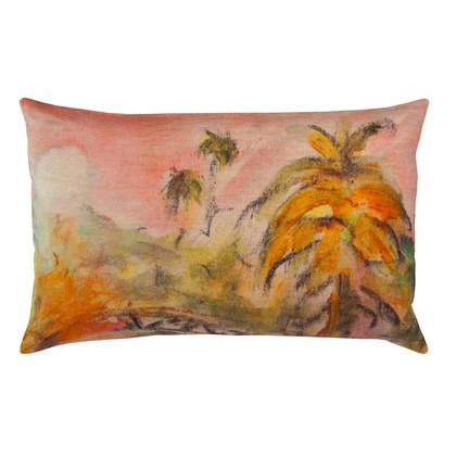 Maison Lévy Lune Rose Cushion 50 x 30cm  (available to order)