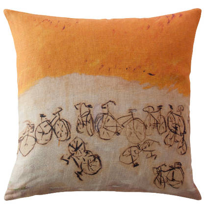 Maison Lévy A Bicyclette Cushion 55cm (available to order)