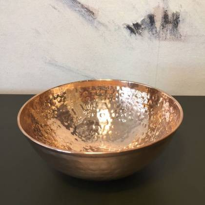 Copper Hammam Bowl 15cm diamater. Handmade in India