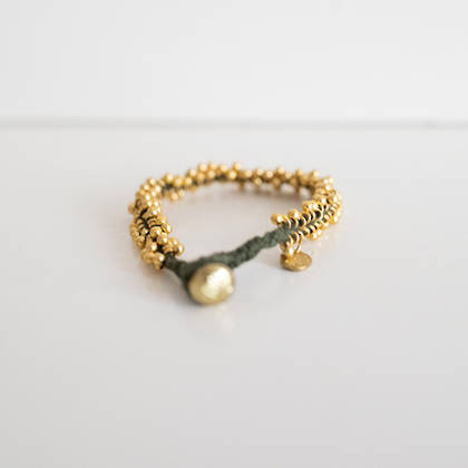 Bracelet Lalit - gold khaki (sold out)