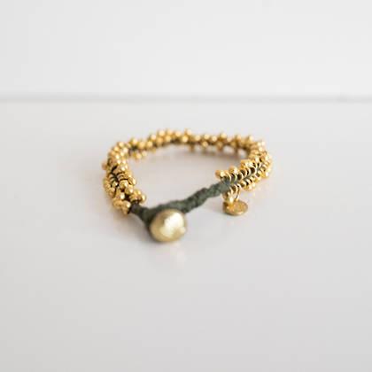 Bracelet Lalit - gold khaki