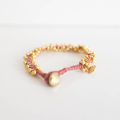 Bracelet Lalit - gold rose wine