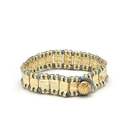 Bracelet Raj - Gold Day Blue