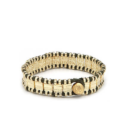 Bracelet Raj - gold Khaki (sold out)