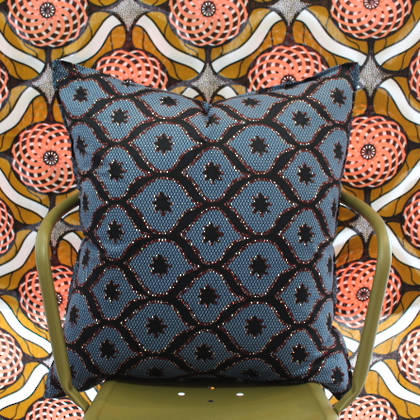 African Wax Print Cushion - Daylight 2