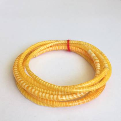 Jokko Bracelets from Mali Africa - set of 6 Yellow (out of stock)