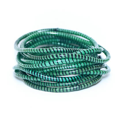 Jokko Bracelets from Mali Africa - set of 6 Dark Green