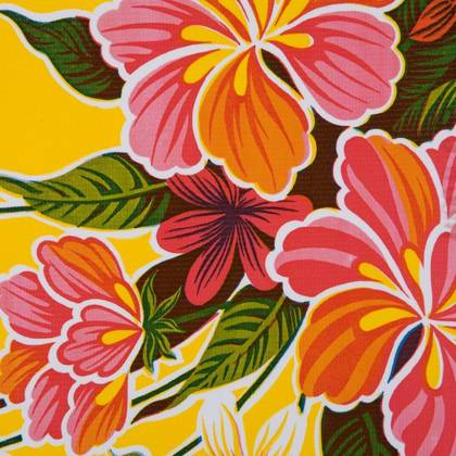 Kitsch Kitchen Oilcloth - Fortin Yellow (out of stock)