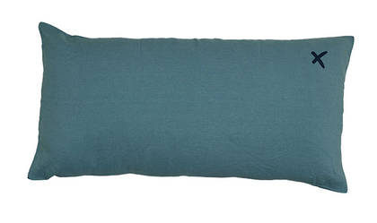 Large Pure linen Lovers cushion in Mineral 55 x 110cm (available to order)
