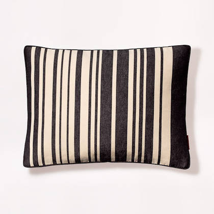 French Stripe Tom Noir Cushion 30x40cm