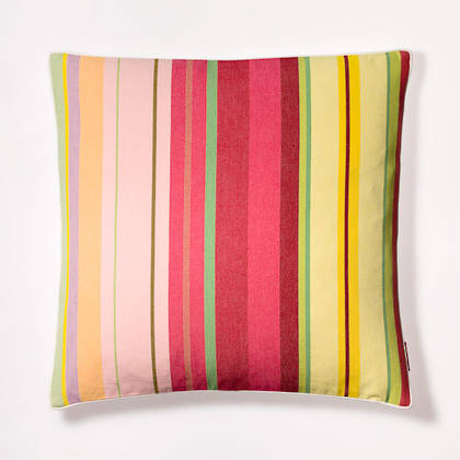 Cushion French Stripe Ceret Cerise 50cm (out of stock, available to order)