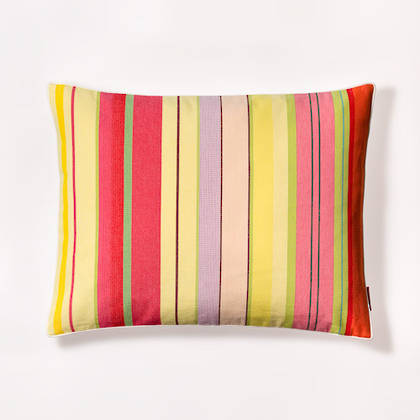 French Stripe Ceret Cerise Cushion 40x50cm (out of stock, available to order)
