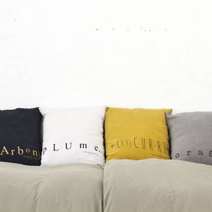 Bed & Philosophy pure linen Molly Cushion in Curry