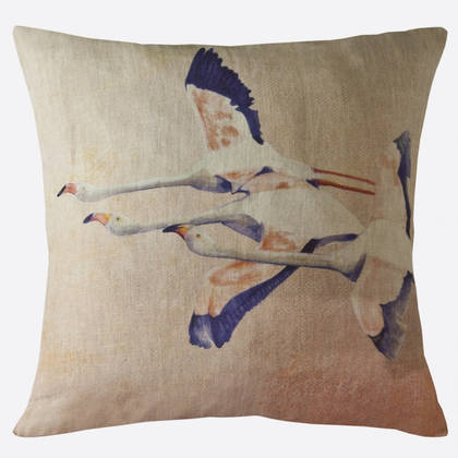 Maison Lévy Flamingo Rose Cushion 55cm (available to order)