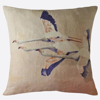 Maison Lévy Flamingo Rose Cushion 55cm (available to order)