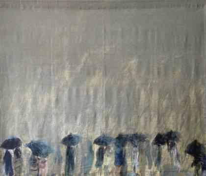 Maison Levy Take Home Art - Horizon de Pluie (size 150x130cm)