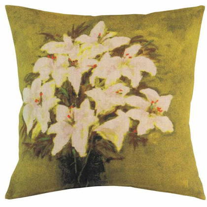 Maison Levy Fleurs Orange cushion 55cm (available to order)