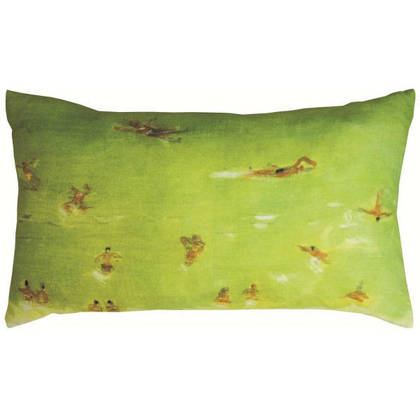 Maison Levy Baignade Verte Cushion 50 x 30cm (available to order)