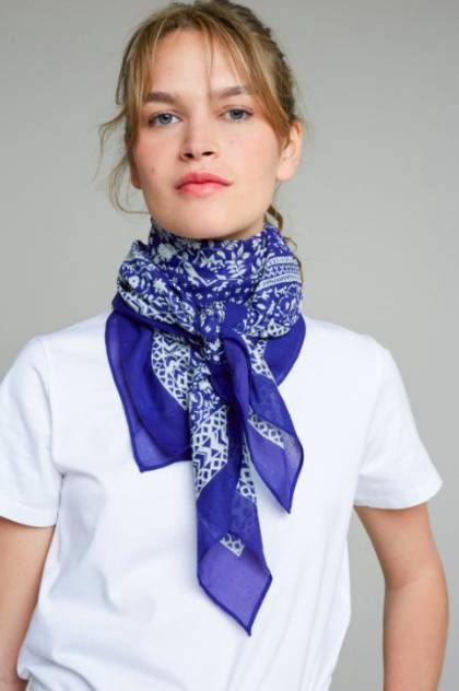 Moismont Scarf - design n°405 Blue (sold out)