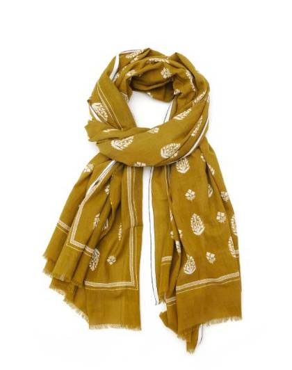 Moismont Scarf - design n°417 Tobacco (Sold Out)
