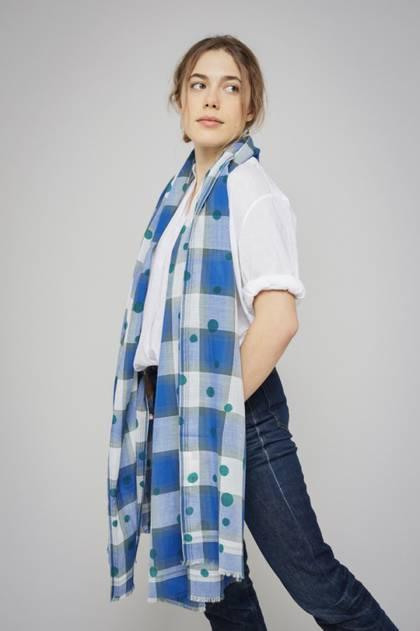 Moismont Scarf - design n°426 Blue