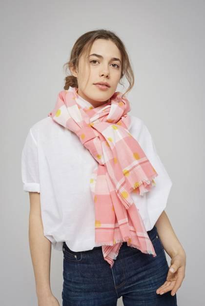 Moismont Scarf - design n°426 Pink