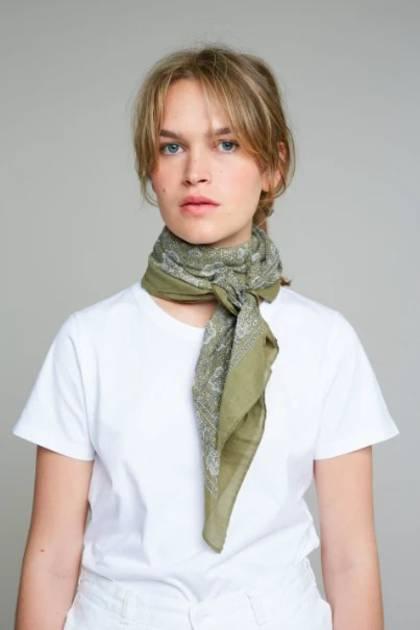 Moismont Scarf - design n°406 Khaki Green