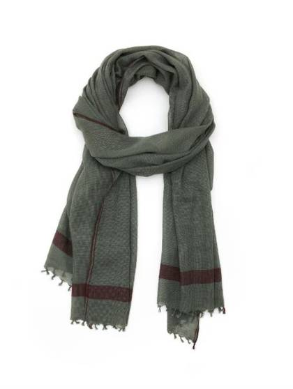 Moismont Scarf - design n°409 Khaki (Sold Out)
