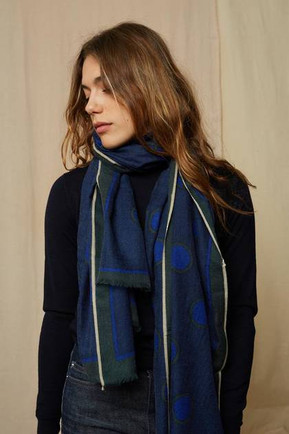 Moismont Scarf - design n° 463 - Japan Blue