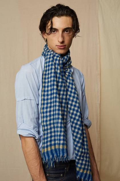 Moismont Scarf - design n° 469 - Japan Blue