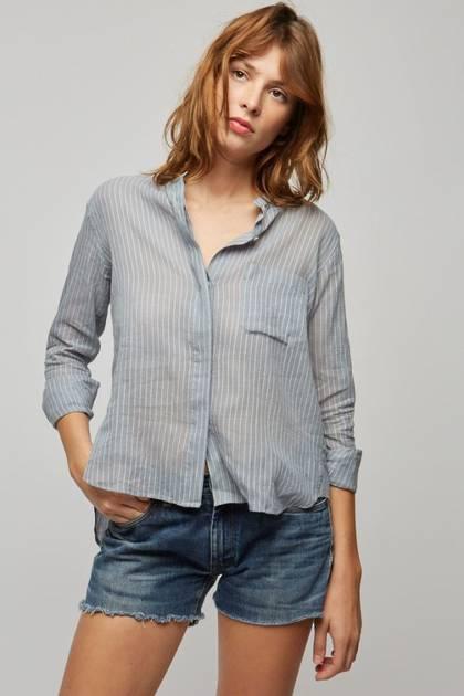 Moismont Shirt pure Cotton - design n°511 - Stripes Blue