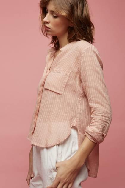 Moismont Shirt pure Cotton - design n°511 - Stripes Pink