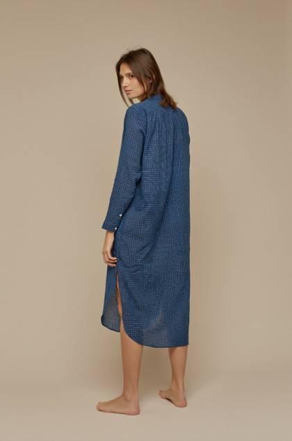 Moismont Tunic pure Cotton - design n°515 - Air Blue  (sold out)