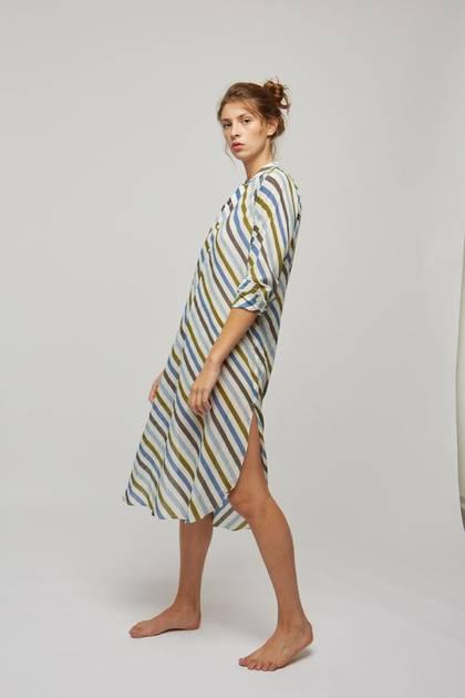 Moismont Tunic pure Cotton - design n°515 - Stripe