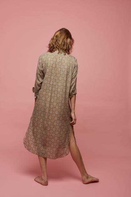Moismont Tunic pure Cotton - design n°515 - Ochre