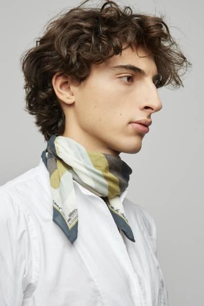 Moismont Scarf - design n°486 100% Cotton - Kaki