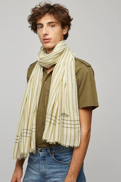Moismont Scarf - design n°498 Khadi Cotton - Kaki