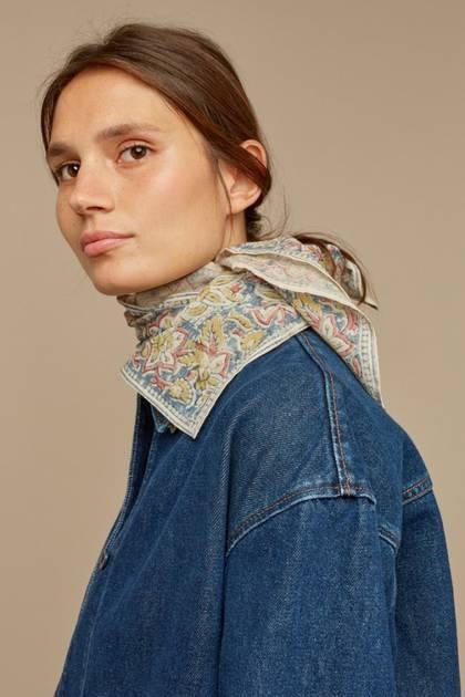 Moismont Scarf - design n°524 100% Cotton - Dutch Blue