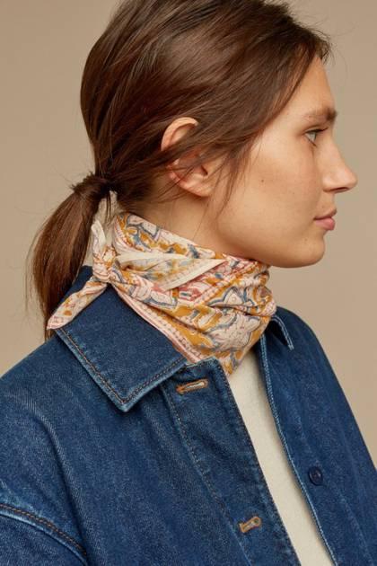 Moismont Scarf - design n°524 100% Cotton - Pastel