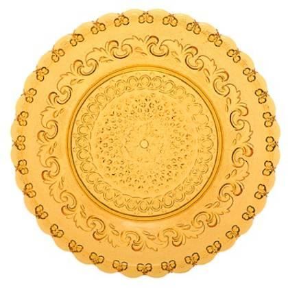 Fleur de Lys Amber Large Plate