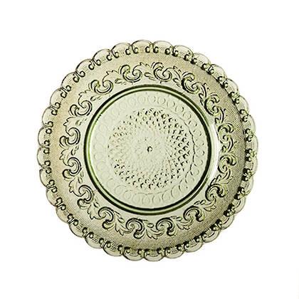 Fleur de Lys Green Side Plate - set of 2