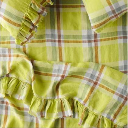 Citron Ruffle Flat Sheet - One size