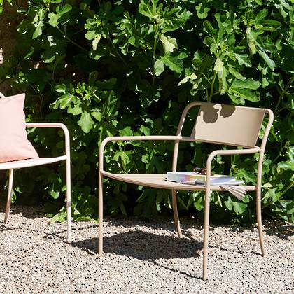 Tolix Patio range - Lounge Chair in Sable (2 available late Nov)
