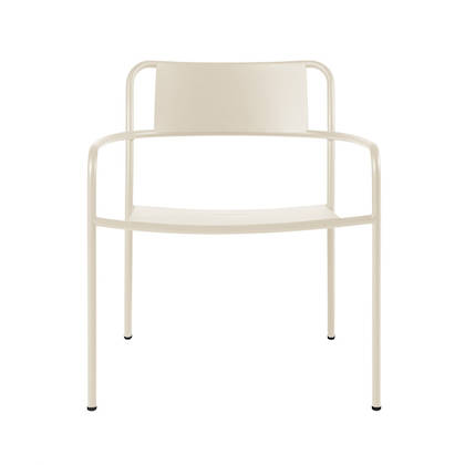 Tolix Patio range - Lounge Chair in Ivorie (2 available late Nov)