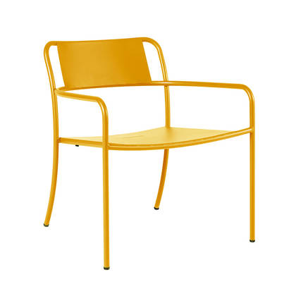 Tolix Patio range - Lounge Chair in Jaune Moutard (2 available late Nov)